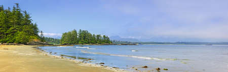 Panoramic view of Long Beach shore in Pacific Rim National park, Canada photo