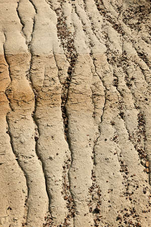 Close up of eroded soil patterns in badlands in Alberta, Canada Stock Photo - 9734755
