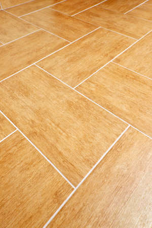 tiles floor: Ceramic tiles flooring close up as background Stock Photo
