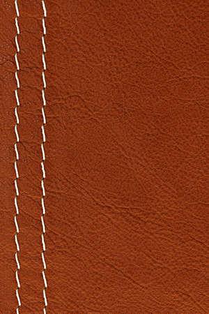 cuir: De fond en cuir brun avec des points blancs