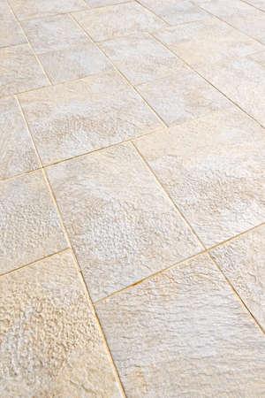 Ceramic tile flooring close up as background Archivio Fotografico