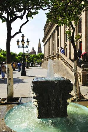 guadalajara: Degollado Theater side view in historic Guadalajara center, Jalisco, Mexico