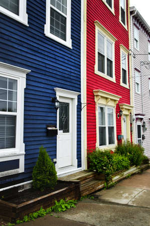 atlantic city: Colorful houses on hill in St. Johns, Newfoundland, Canada