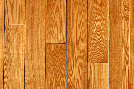 Hardwood oak floor boards view from above background 免版税图像