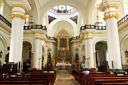 sacramental: Our Lady of Guadalupe church interior in Puerto Vallarta, Jalisco, Mexico Editorial