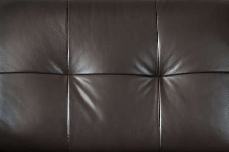 Closeup of luxurious expensive brown leather furniture, background photo