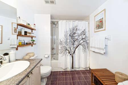 Interior three piece bathroom - artwork on wall from photographer portfolio