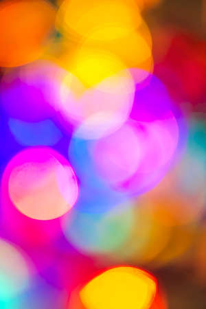 Multicolored out of focus Christmas light background Stock Photo - 16556712