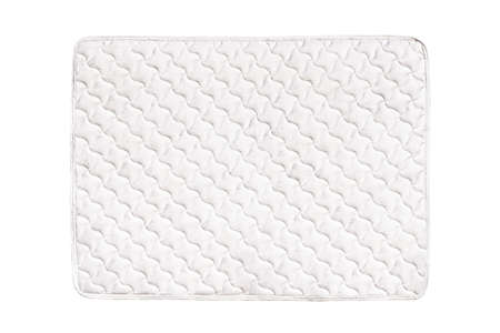 quilted: Soft comfortable quilted mattress isolated on white background