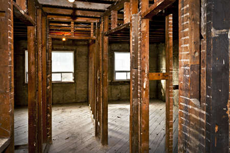 Interior of a house under gut renovation at construction site Stock Photo - 16639371