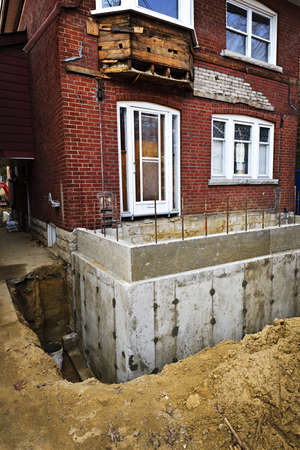 Building addition to residential house with new foundation Stock Photo - 16755220