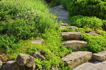 garden steps escalones de piedra natural y sendero paisajismo en el jardn de su casa