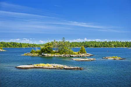 georgian: Small rocky islands in Georgian Bay near Parry Sound, Ontario Canada