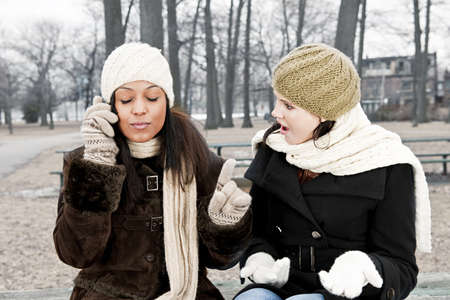 Woman shocked by friend ignoring her with phone call