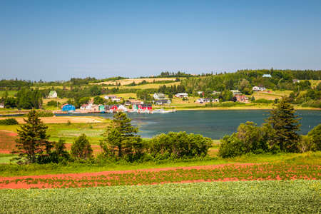 Landscape view of bay near Cavendish, Prince Edward Island, Canada Banque d'images