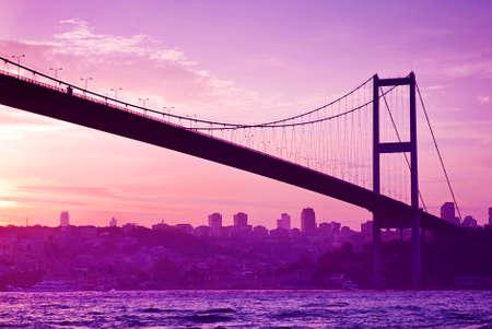 Bosphorus Bridge in Istanbul at sunset Stock fotó