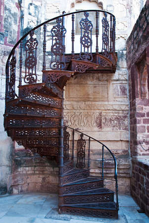Beautiful old spiral staircase  photo