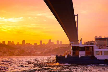 Bosphorus Bridge in Istanbul, Turkey.