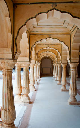 amber fort: Architectural detail of Amber Fort in Jaipur, Rajasthan, India