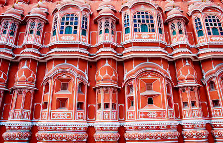 rajasthan: Famous Rajasthan landmark - Hawa Mahal palace (Palace of the Winds), Jaipur, Rajasthan