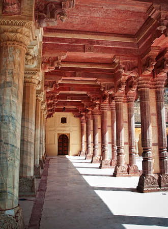 mughal empire: Architectural detail of Amber Fort in Jaipur, Rajasthan, India