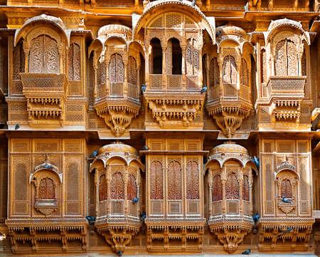 JAISALMER, INDIA - September 22: The beautiful Patwon ki Haveli palace made of golden limestone, September 22, 2013 in Jaisalmer, India.