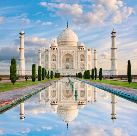 Taj Mahal in sunset light, Agra, India Editorial