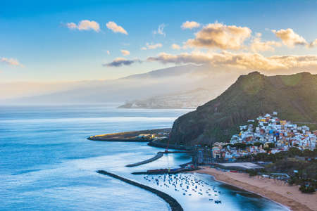 Beautiful view on San Andres near Santa Cruz de Tenerife in the north of Tenerife, Canary Islands, Spain.