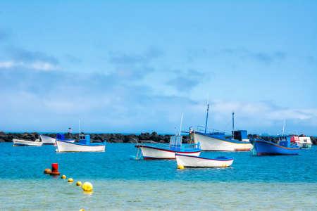 Amazing view from beach las Teresitas with yellow sand. Location: Santa Cruz de Tenerife, Tenerife, Canary Islands. Artistic picture. Beauty world Stock Photo