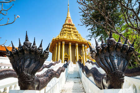 Amazing view of beautiful The Footprint of the Lord Buddha, Saraburi. Location: Ancient City Park, Muang Boran, Samut Prakan province, Bangkok, Thailand. Beauty world.