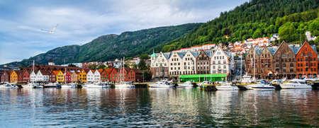 Bergen, Norway. View of historical buildings in Bryggen- Hanseatic wharf in Bergen, Norway. Stock fotó