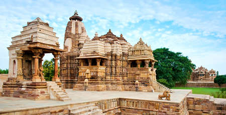Devi Jagdambi Temple, dedicated to Parvati, Western Temples of Khajuraho. Popular amongst tourists all over the world. Фото со стока