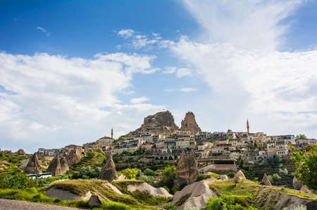 Ancient town and a castle of Uchisar, Cappadocia, Turkey