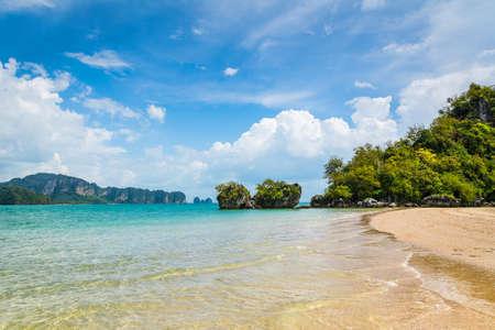 Amazing view of beautiful beach. Location: Krabi province, Thailand, Andaman Sea. Artistic picture. Beauty world Stock fotó