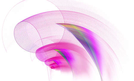 fractal pink: Abstract fractal pink spiral pipe, computer-generated image