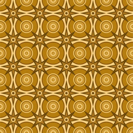 wood flooring: The figure for wood flooring, circles and stars seamless.Vector seamless pattern of circles and stars. The pattern for parquet flooring, colour, flat. For the decoration. Illustration