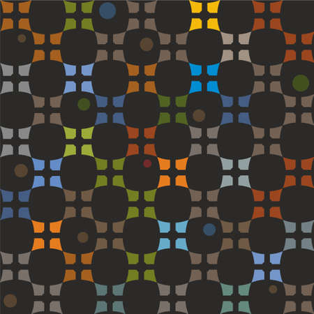 uncluttered: Pattern colorful elements on a black background. On uncluttered white background with colored elements. Decorative, contemporary design. For printing and textile prints.
