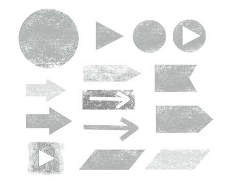 graphite: Arrow, button, graphite, pencil, white background, infographics. Arrows and frames, painted gray graphite pencil on a white background. For infographics. Illustration