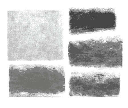 Background, graphite pencil, charcoal, texture, frame, banner, white background. Traces of charcoal and graphite pencil on white paper. Vector frame for text. Illustration