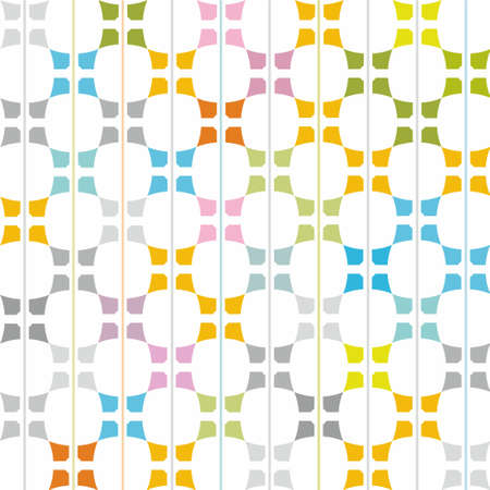 uncluttered: Pattern colorful elements on a white background. On uncluttered white background with colored elements. Decorative, contemporary design. For printing and textile prints.