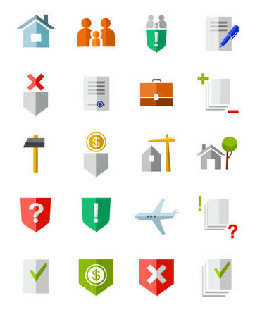 civil rights: Legal services, vector images, icons. Color icons on the theme of civil rights. Illustration