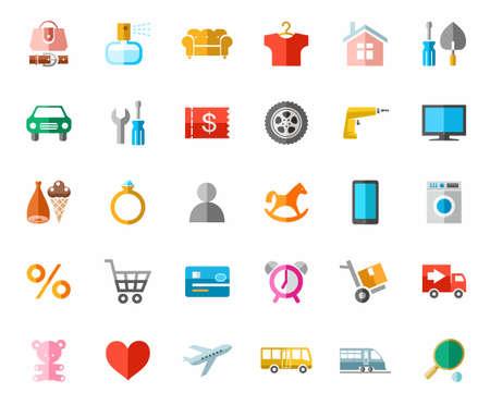 Online-Shop, Produktkategorien, Icons, Linear, Monoton. Vector ...