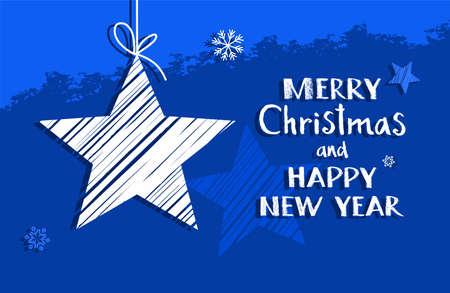 Weihnachtsgrüße Englisch.Weihnachtskarte Mit Einem Stern Grün Vektor Auf Grünem