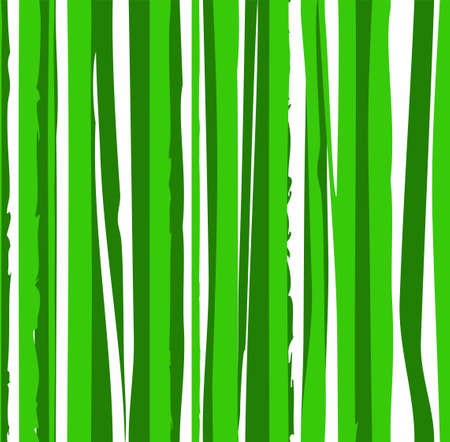 Jagged green stripes wavy lines abstract pattern. Ilustração