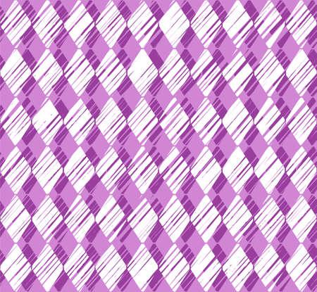 Verticale strepen witte diamanten op een paarse achtergrond.