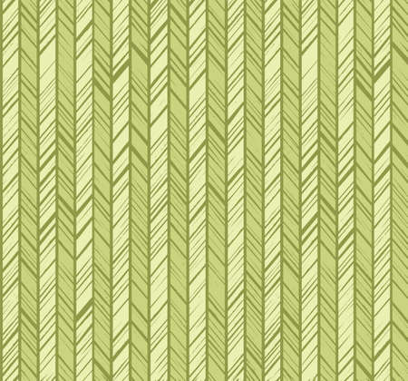 Pattern herringbone, seamless background, light green, vector. Vertical stripes with light green diagonal strokes. The uneven strokes of the imitation. Decorative, colored pattern.