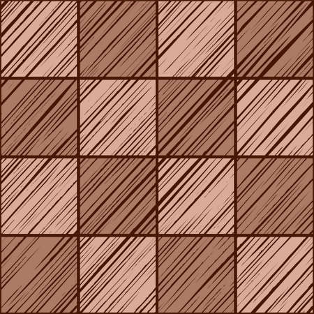 Square tiles, background seamless pink-gray, vector. The shaded squares on the diagonal pink-brown color. Wood texture, shading pencil, simulation. Color decor. Imitation tile.