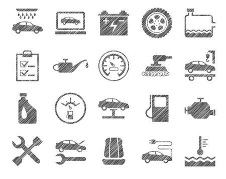Car repair and maintenance illustration