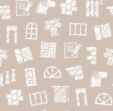 Finishing materials, construction, seamless pattern, pencil hatching, gray, vector. Finishing of premises and buildings. Plain, flat background. Hatching with a white pencil on a light gray field. Imitation.