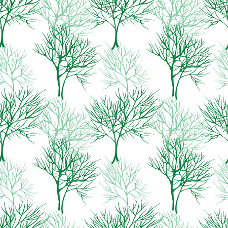 healing: Food seamless pattern with dill. Hand drawn style on white background Stock Photo
